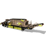 Portable Heavy-Duty Horizontal Screening Plant with Feed Conveyor